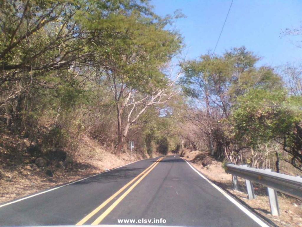 calle a Sensuntepeque