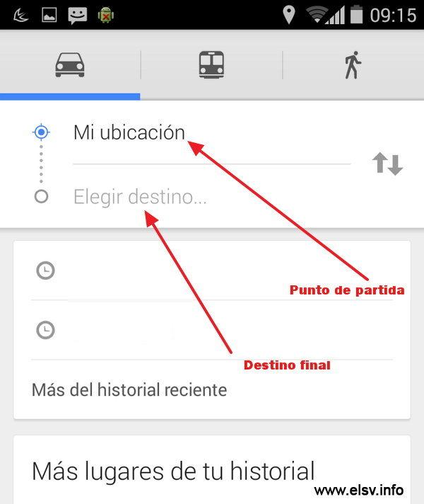 Como usar Google Maps con voz