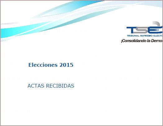 Resultados oficiales del TSE elecciones 2015