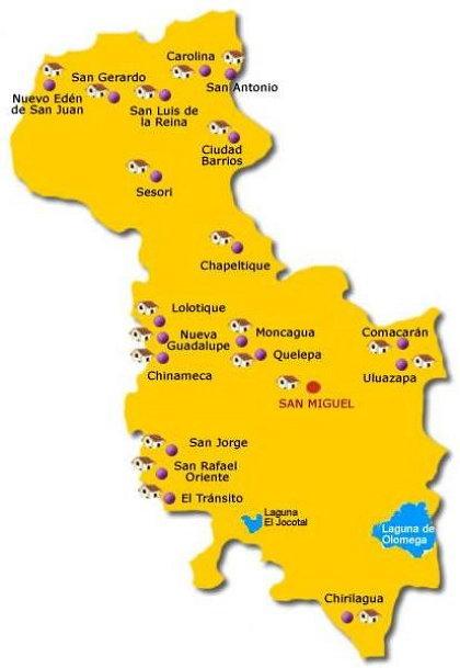 Municipios de San Miguel Imagen con Mapa