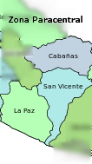 Departamentos de Zona paracentral de El Salvador