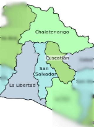 Departamentos de la zona central de El Salvador