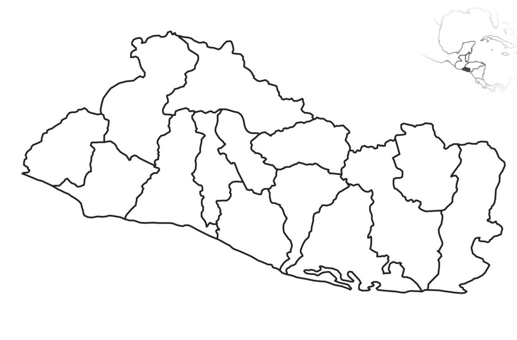 Mapa de El Salvador En Grande para Imprimir  El Salvador