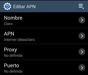 Thumbnail Configurar la APN de Claro El Salvador