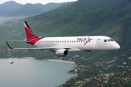 En la imagen avion de Taca hoy en dia es Avianca