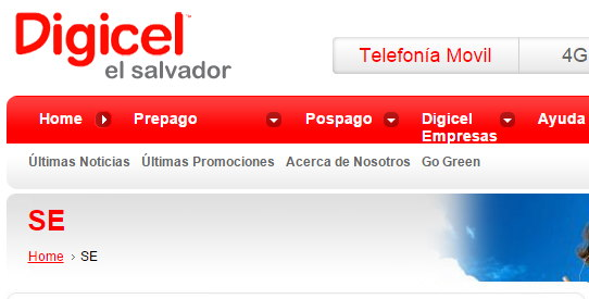 APN digicel El Salvador