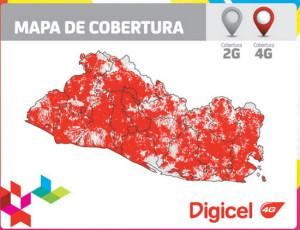 Thumbnail Mapa de cobertura 4G Digicel El Salvador