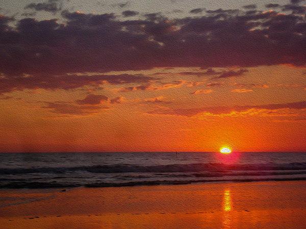 Puesta del sol en Jujutla, Ahuachapán.