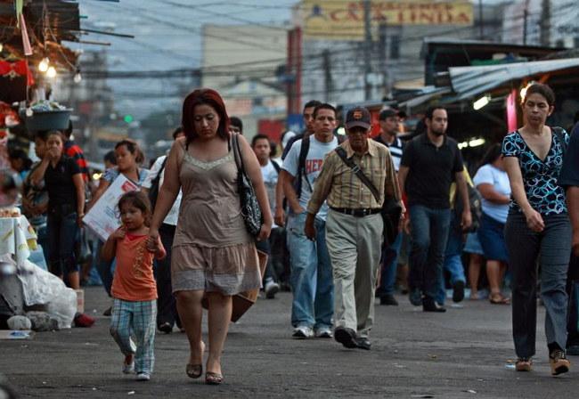 Población de El Salvador 2016