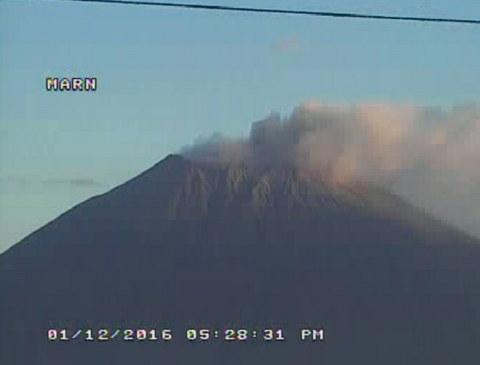 Volcán Chaparrastique (San Miguel) en Actividad Enero 2016