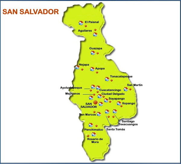 Imagenes de mapas de san salvador para imprimir