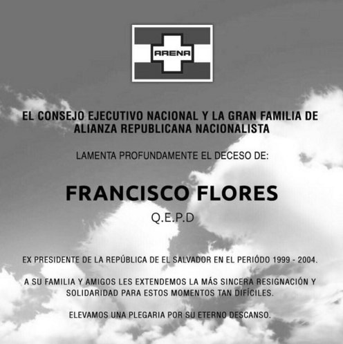 muere francisco flores expresidente de el salvador