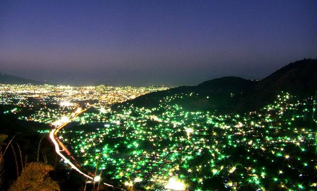 Vista de San Salvador desde Los planes de renderos