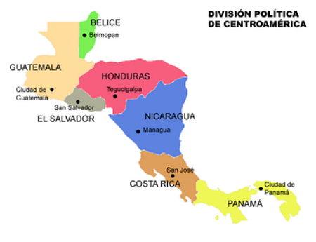 Mapa de Centroamerica para imprimir
