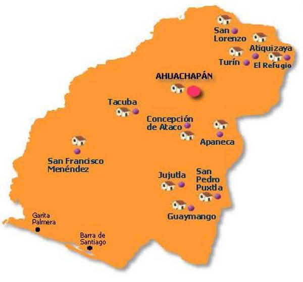 municipios de ahuachapan