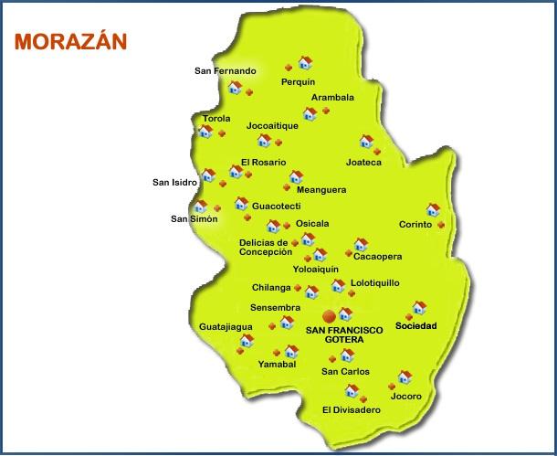 Municipios de Morazan