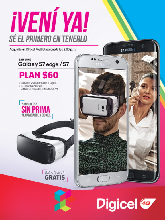 Samsung Galaxy s7 con Digicel El Salvador