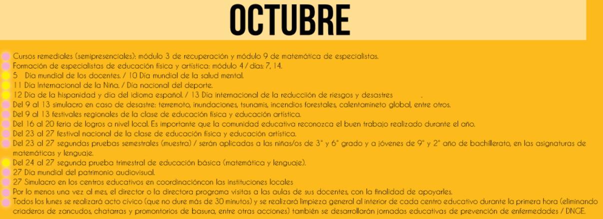 010 octubre calendario escolar 2017