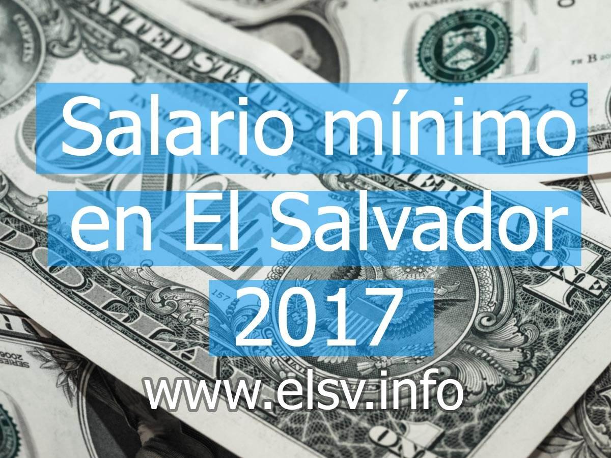 salario minimo en el salvador de -2017