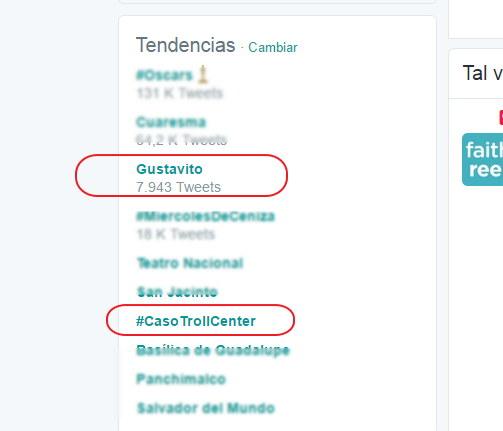 trending topic el salvador en twitter