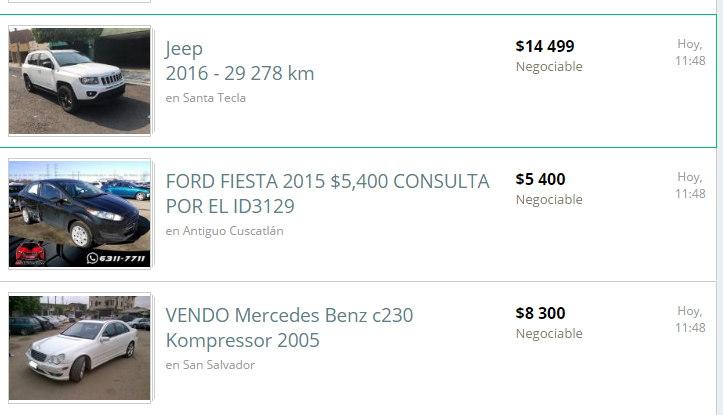 autos en venta OLX el salvador