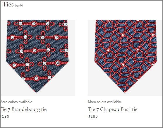corbatas hermes precio