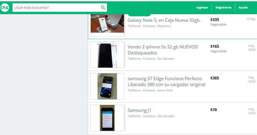 celulares usados El Salvador