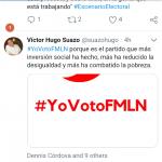 Thumbnail Candidato suplente del FMLN hace publicidad el día de las elecciones, usuarios de twitter lo rechazan