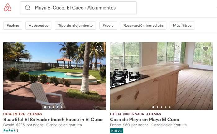 destinos de airbnb el salvador