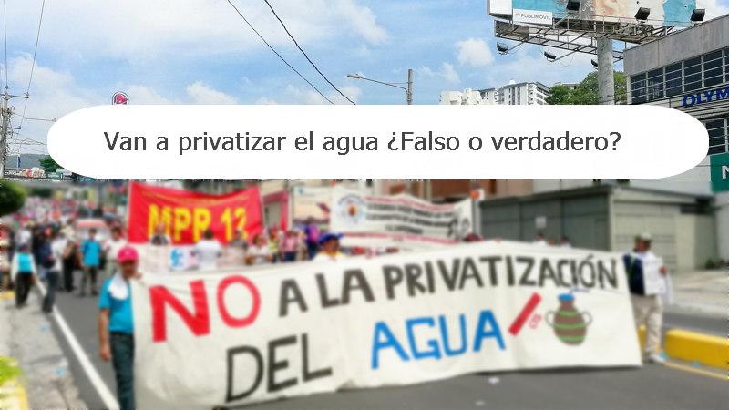 privatizacion del agua el salvador