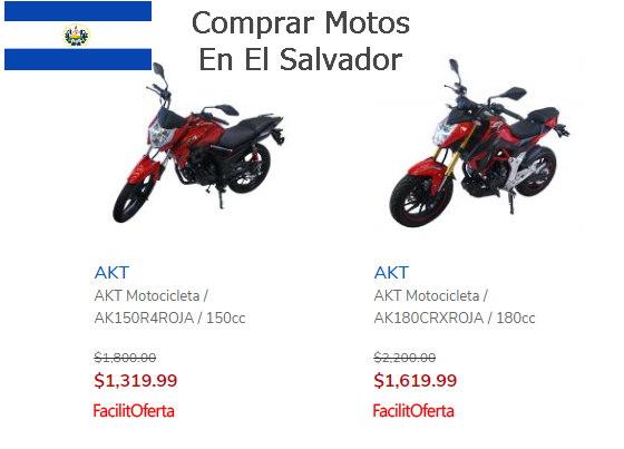 Comprar motos el salvador