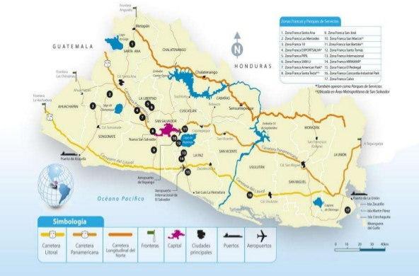 Principales carreteras de El Salvador imagen