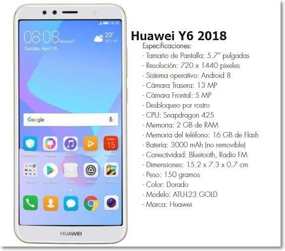 Huawei Y6 2018 en El Salvador