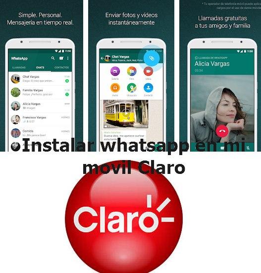 instalar whatsapp en mi celular claro