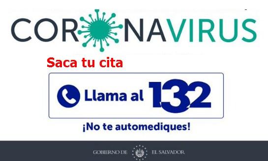 Llama al 132 en El Salvador y saca tu cita para vacuna covid19