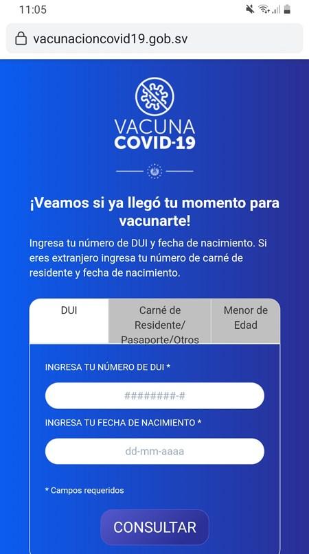 cita online vacuna covid 19 el salvador