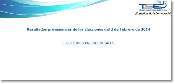 Thumbnail Resultados preliminares de las Elecciones Presidenciales (2014)