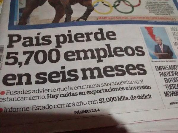 Desempleo en El Salvador