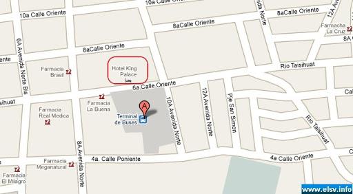 Hotel King Palace, San Miguel mapa
