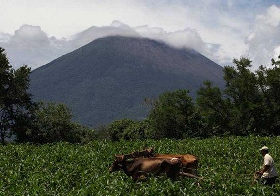 Imagen del volcan de san miguel 2014