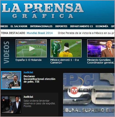 Thumbnail La prensa Gráfica (Periódico en El Salvador)
