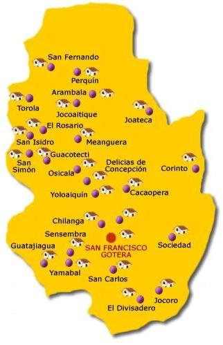Mapa Departamento Morazan