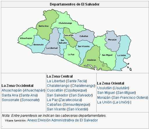 Thumbnail Organización territorial de El Salvador