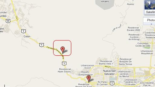 mapa de los chorros