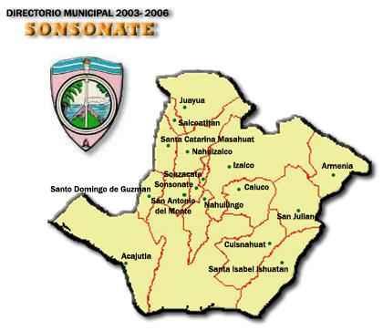 Mapa de Sonsonate