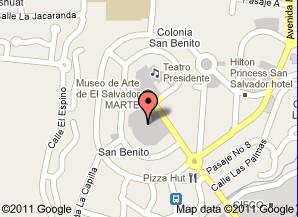 Hotel Sheraton Presidente San Salvador mapa