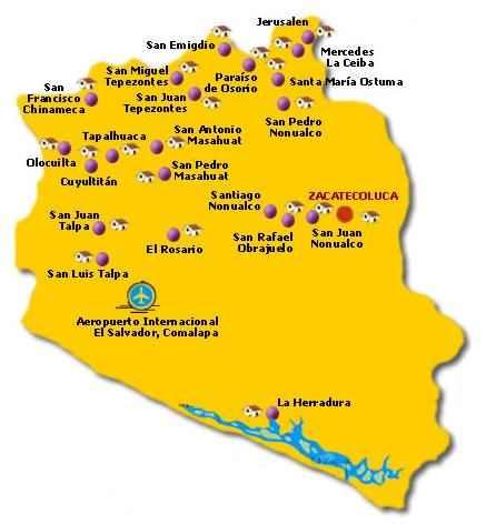 Mapa de La Paz El Salvador